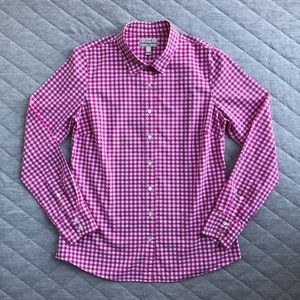 J. Crew Gingham Perfect Shirt